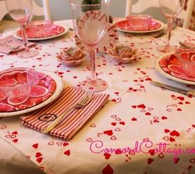 Superb How To Make A Valentines Day Hearts Tablecloth, Crafts, Seasonal Holiday  Decor, Reupholster
