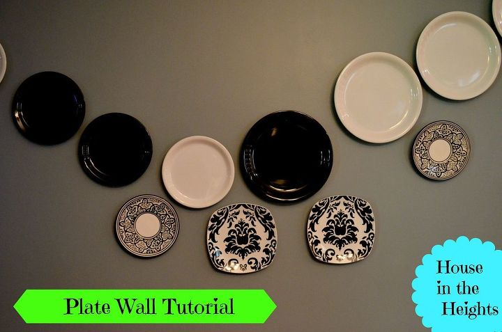 plate wall tutorial, home decor