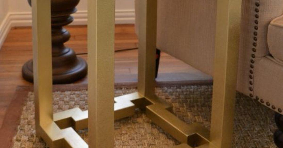 Diy Side Tables With Greek Key Base Hometalk