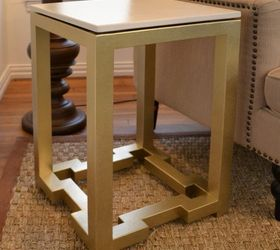 Diy Side Tables With Greek Key Base, Diy, Painted Furniture, DIY Side Table