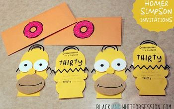 diy 3d invitations, crafts, Can you believe Homer s beard was made with sandpaper