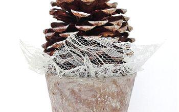 Winter Pinecone Tree Craft