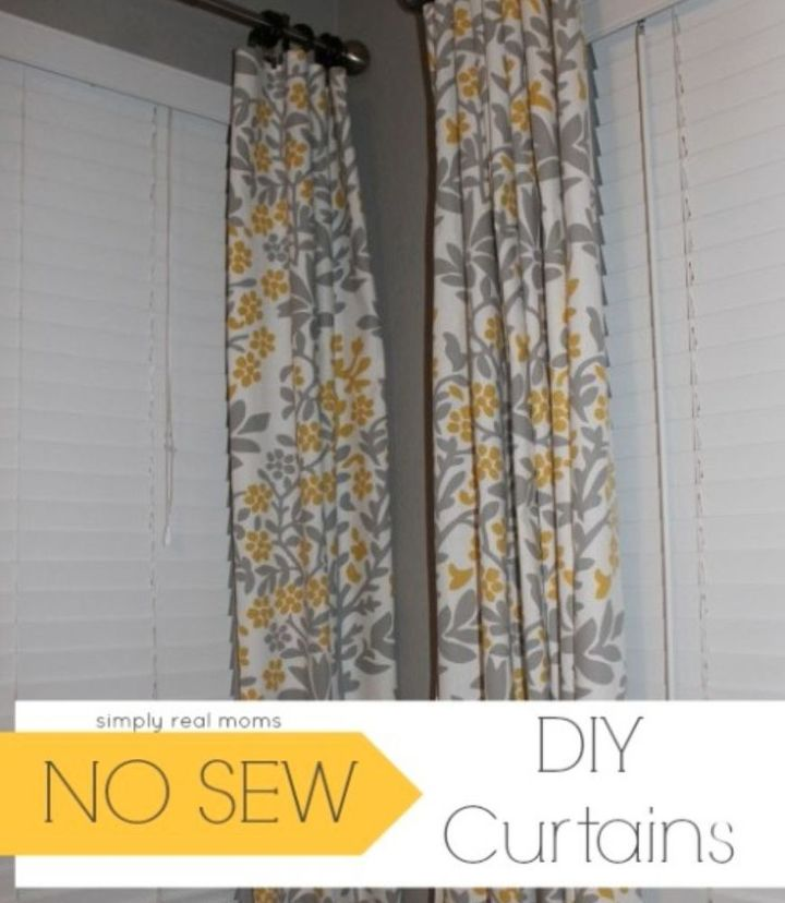 Diy No Sew Curtains Crafts Home Decor Reupholster Window Treatments