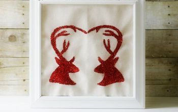 Deer Head Silhouettes With 'Heart' Antlers