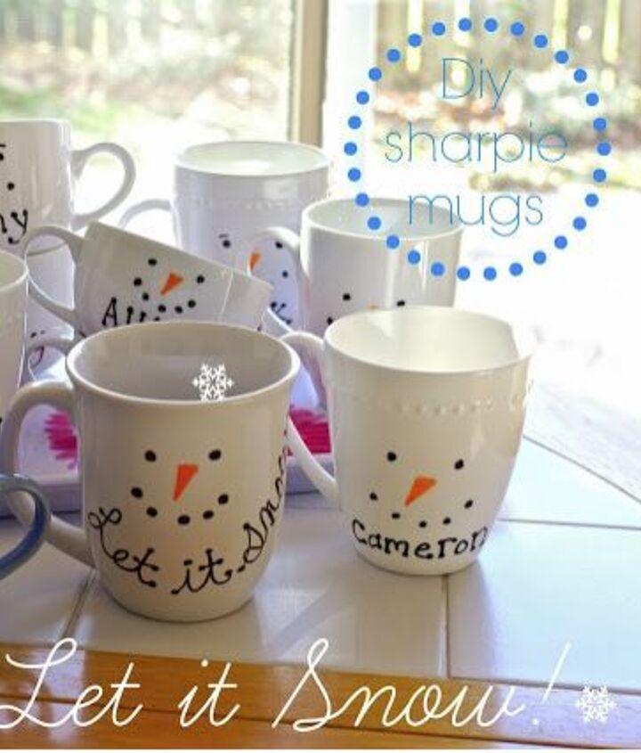 diy sharpie mugs, crafts, seasonal holiday decor