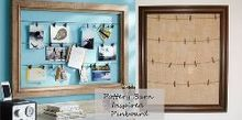 pottery barn inspired pinboard, crafts, home decor, living room ideas
