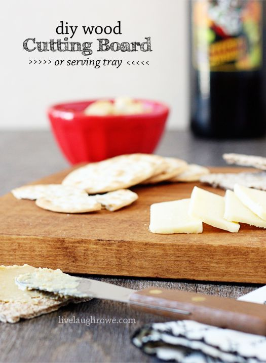 diy wood cutting board serving tray, crafts, woodworking projects
