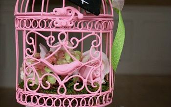 spring bird cage with michaels and hometalk mpinterestparty, chalkboard paint, crafts, home decor, painting, Brighten up your decor with this Pretty Spring Bird Cage