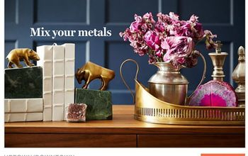 5 tips for using metallics at home, home decor, Tip 5 My favorite places to find metallic home decor of all types Homegoods IKEA West Elm thrift stores antique stores and flash deal sites like One Kings Lane
