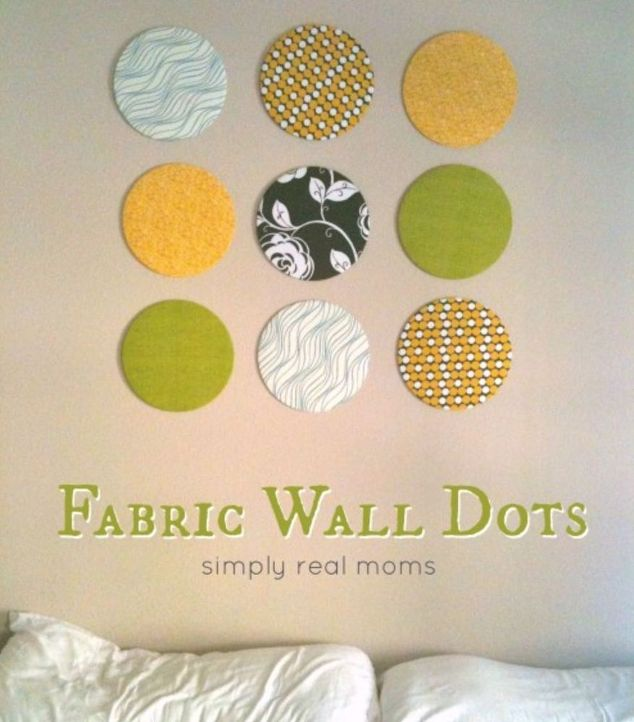DIY Fabric Wall Dots | Hometalk