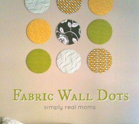 Superb Fabric Home Decor Ideas Part - 12: Diy Fabric Wall Dots, Diy, Home Decor, Living Room Ideas, Reupholster
