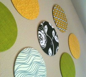 Ordinary Fabric Home Decor Ideas Part - 8: Diy Fabric Wall Dots, Diy, Home Decor, Living Room Ideas, Reupholster
