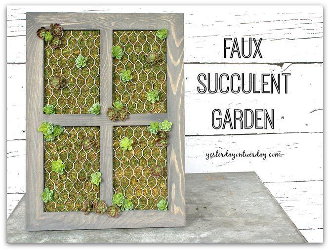 Make a gorgeous Faux Succulent Garden.