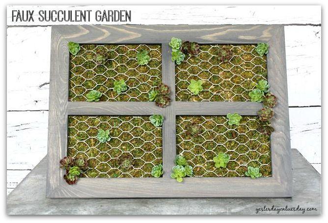 Enjoy your everlasting succulent garden.