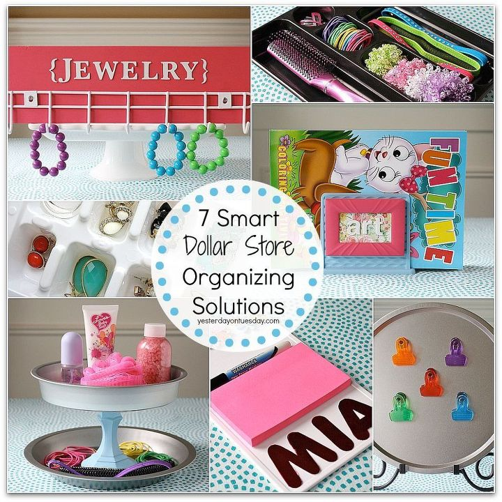 Great ways to transform inexpensive dollar store finds into effective organizing solutions to declutter your home!