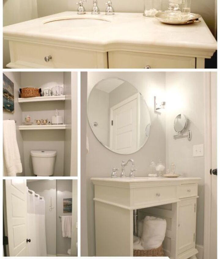 The complete bathroom renovation cost just around $700.