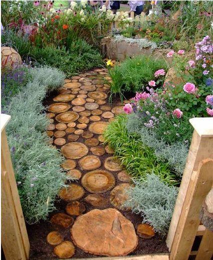 Cute Diy Garden Path Idea Flowers Gardening Landscape Outdoor Living