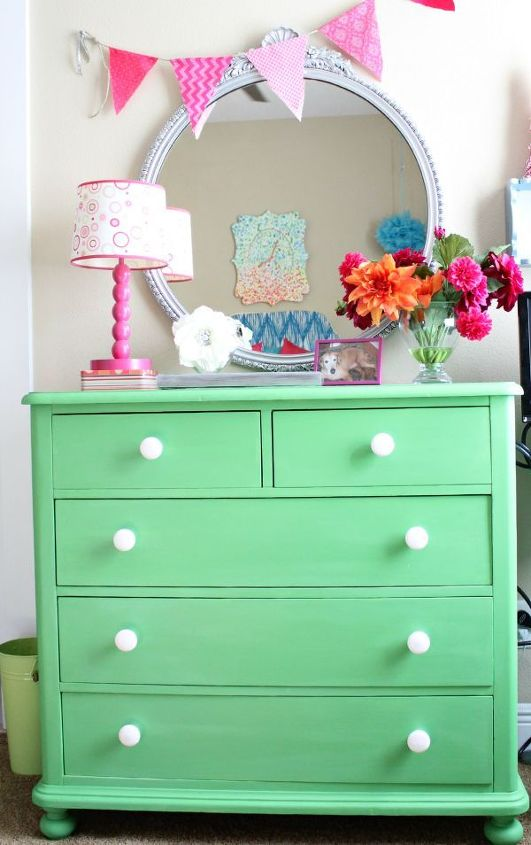From furniture redos in a Spring-y green to...