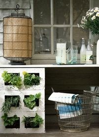 Must have cinder blocks? Then you also must use plants!  carolynbarber.co.uk
