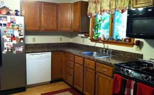 under 350 kitchen makeover part one painted granite countertops, countertops, diy, how to, kitchen design, painting