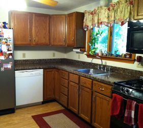 Under 350 Kitchen Makeover Part One Painted Granite Countertops, Countertops,  Diy, ...