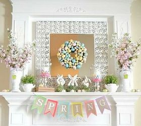 Easter Decorating Round Up, Easter Decorations, Fireplaces Mantels,  Patriotic Decor Ideas, Seasonal