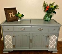 new life for an old stereo cabinet, painted furniture, repurposing upcycling