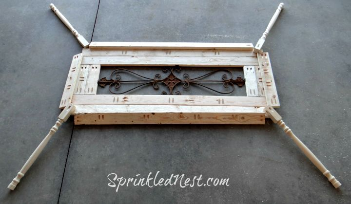 transform metal wall art into a custom table, chalk paint, diy, painted furniture, repurposing upcycling