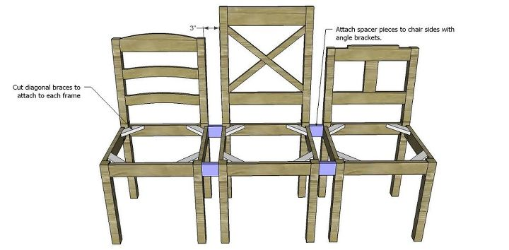 Build A Dining Chair Bench Diy Painted Furniture Woodworking Projects