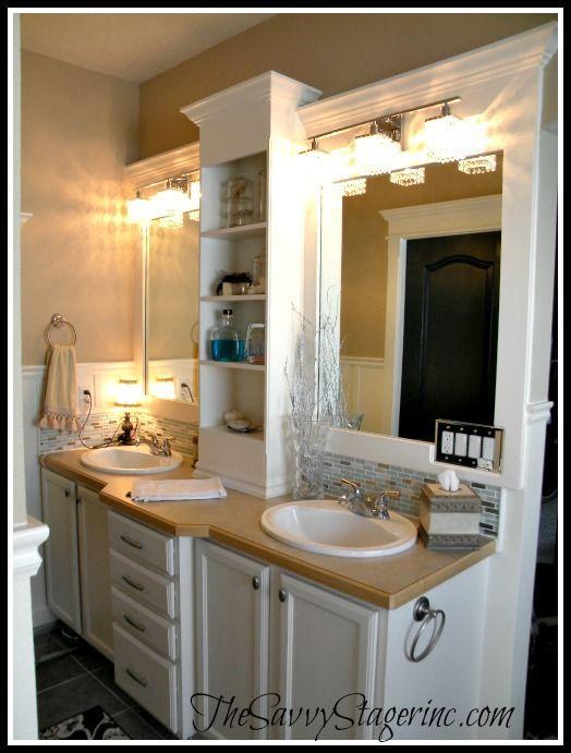Frame And Add A Shelf To A Builder Grade Mirror Hometalk