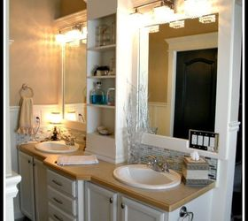 Frame And Add A Shelf To A Builder Grade Mirror, Bathroom Ideas, Painted  Furniture