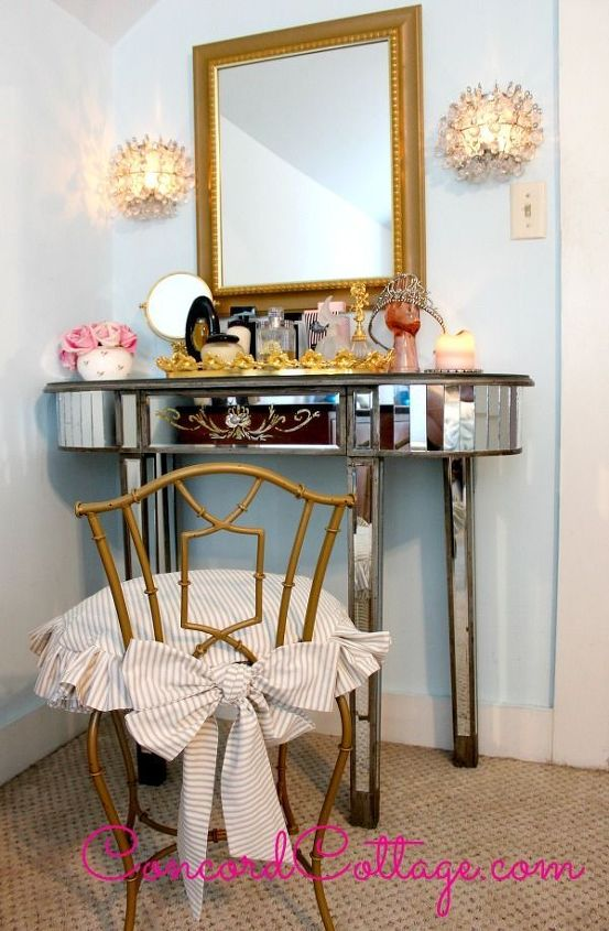 Vanity Chair Makeover Hometalk