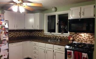under 350 kitchen makeover part 3 backsplash, diy, kitchen backsplash, kitchen design, tiling, wall decor