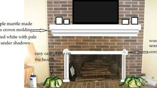 Q How To Refinish A Brick Fire Place Concrete Masonry Diy Fireplaces Mantels