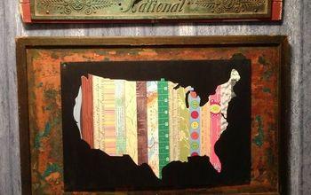 DIY USA Quilt Map Art