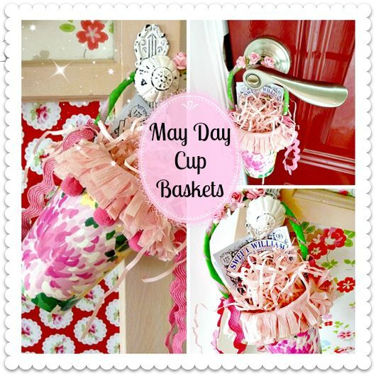 may day baskets made from cups, crafts, seasonal holiday decor