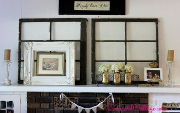 Mother's Day Mantel With Old Windows