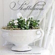free simply shabbilicious magazine, home decor, shabby chic