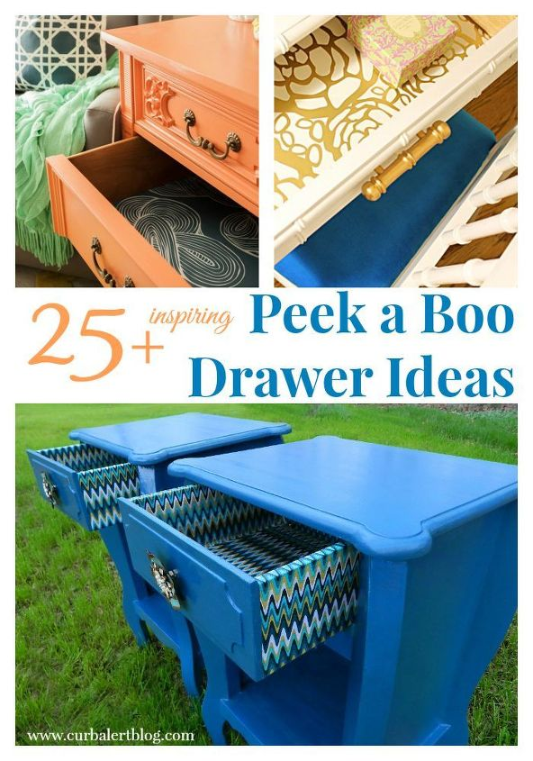 25 inspiring peek a boo drawers, painted furniture, rustic furniture