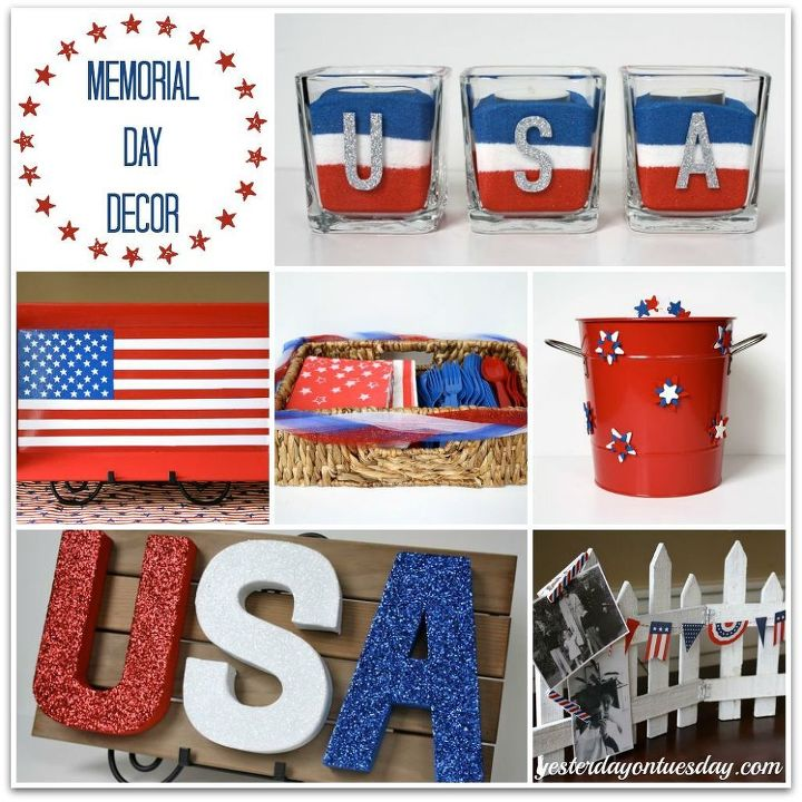 rustic memorial day decor memorialday, crafts, decoupage, patriotic decor ideas, seasonal holiday decor