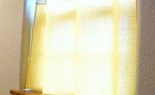 dish towel to cafe curtain, crafts, home decor, repurposing upcycling, window treatments, windows