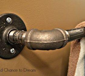 Diy Industrial Bathroom Fixtures, Bathroom Ideas, Home Decor, Repurposing  Upcycling, Shelving Ideas
