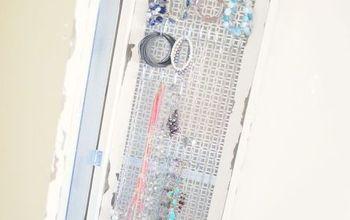 DIY Mirror + Hidden Jewelry Organizer