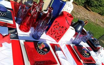 Red, White, and Blue #Patriotic Tablescape