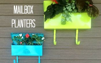 diy mailbox planters, gardening, repurposing upcycling