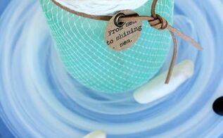 diy sea glass with nautical netting