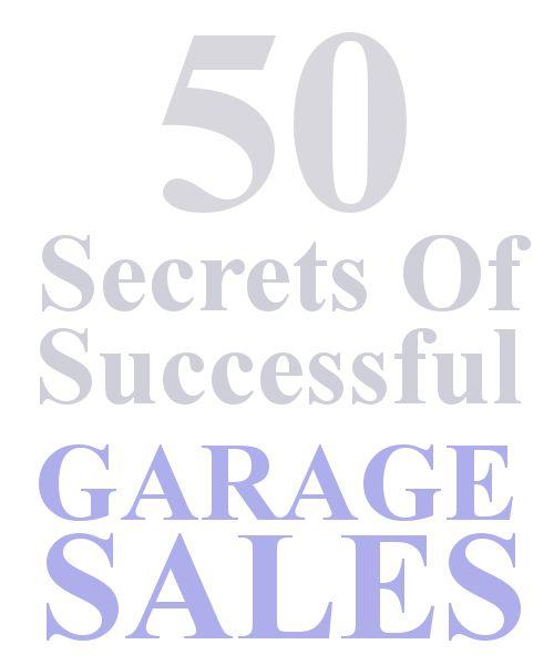 50 secrets of successful garage sales, repurposing upcycling