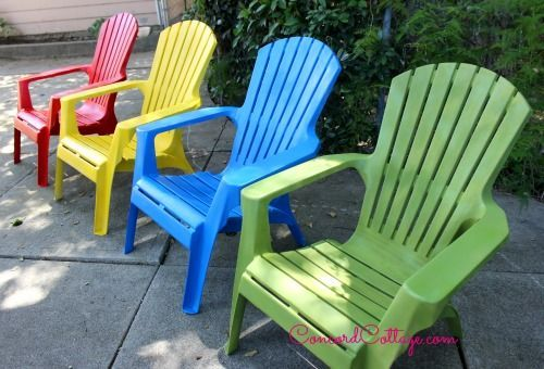 paint your plastic chairs, outdoor furniture, outdoor living, painted  furniture - Paint Your Plastic Chairs Hometalk