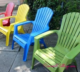 paint your plastic chairs outdoor furniture outdoor living painted furniture & Paint Your Plastic Chairs   Hometalk