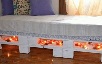 pallet sofa bed easy diy, diy, outdoor furniture, painted furniture, pallet, shabby chic, woodworking projects